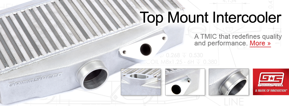 Our in-house engineered top mount intercooler for 2002 to 2007 Subaru
