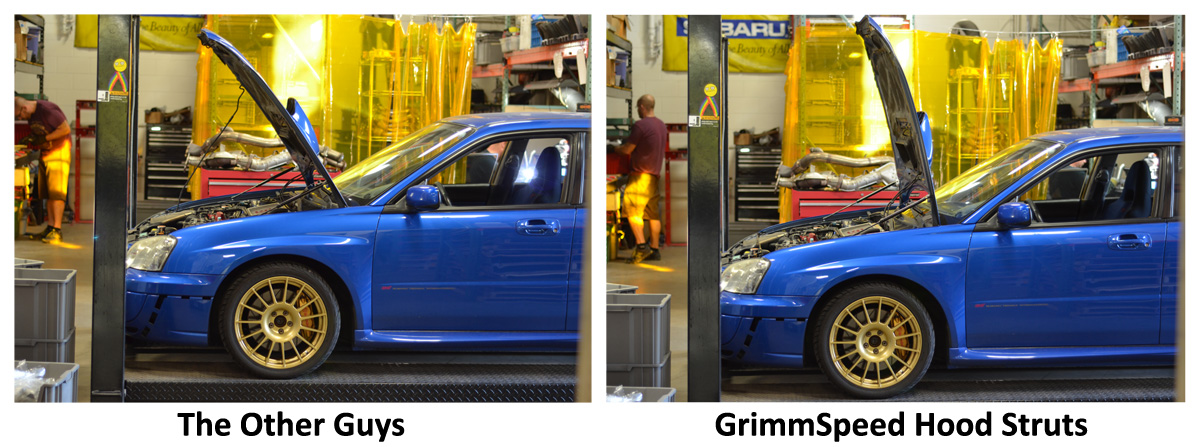 grimmspeed hood strut comparison